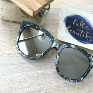 marbled mirror sunglasses